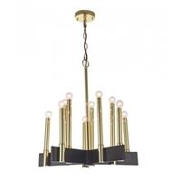 Bethel International DU108 Canada 10 Light 22 inch Black Chandelier Ceiling Light