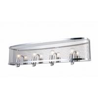 Bethel International ZP123 Canada 4 Light 29 inch Chrome Bathroom Vanity Lighting Wall Light