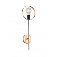 Bethel International TR71W7BR Canada 1 Light 3 inch Black/Brushed Brass Wall Sconce Wall Light