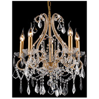 A25 Series 18 inch Antique Gold Metal Chandelier Ceiling Light, Gold Frame