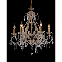 A25 Series 26 inch Antique Gold Metal Chandelier Ceiling Light, Gold Frame
