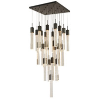 Bethel International Matte Black Crystal Chandeliers