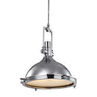 AV Series 21 inch Chrome Metal Pendant Ceiling Light