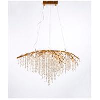 Bethel International AZ05GD Az Series 33 inch Gold Chandelier Ceiling Light Crystal
