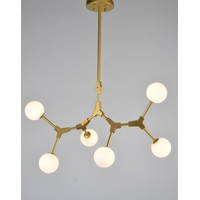 Bethel International Series 6 Light 20 inch Gold Pendant Ceiling Light