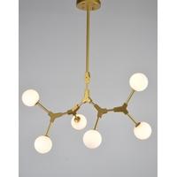 Bethel International Series 6 Light 20 inch Gold Pendant Ceiling Light