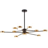 Bethel International BE18C38B Canada LED 40 inch Black/Gold Chandelier Ceiling Light