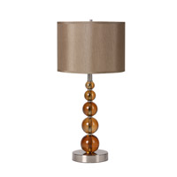 BH Series Table Lamp Portable Light, Silver Metal Frame