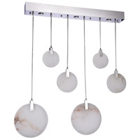Bethel International BU06C43CH Canada LED 43 inch Chrome Island Lighting Ceiling Light