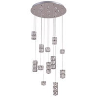 Bethel International DIN02C19CH Canada LED 20 inch Chrome Pendant Ceiling Light