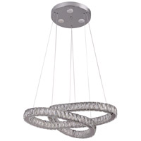 Bethel International DIN03C31CH Canada LED 32 inch Chrome Pendant Ceiling Light