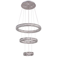 Bethel International DIN05C25CH Canada LED 26 inch Chrome Pendant Ceiling Light