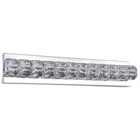 Bethel International DIN09W24CH Canada LED 24 inch Chrome LED Bathroom Vanity Lighting Wall Light