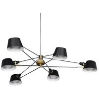 Bethel International DLS12C72B Canada 6 Light 47 inch Black Chandelier Ceiling Light