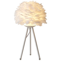 Bethel International DLS22T11W Canada 24 inch 60.00 watt White Table Lamp Portable Light