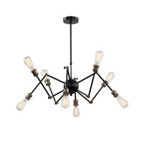DU Series 32 inch Pendant Ceiling Light, Geometric Sphere, Black Frame