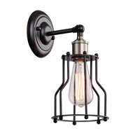 DU Series 6 inch Wall Sconce Wall Light, Geometric Sphere, Black Frame