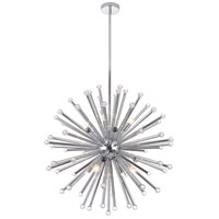 Bethel International DU120CH DU12 Series 8 Light 28 inch Chrome Chandelier Ceiling Light