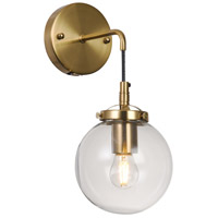 Bethel International DU127 DU12 Series 1 Light 10 inch Brass Wall Sconce Wall Light