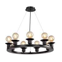 DU Series 24 inch Chandelier Ceiling Light, Black Frame