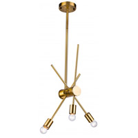 DU Series 3 Light 6 inch Gold Pendant Ceiling Light