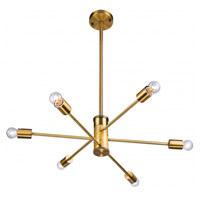 Bethel International DU77G Du Series 6 Light 27 inch Gold Pendant Ceiling Light