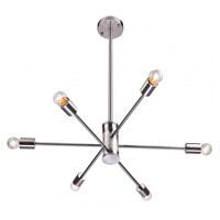 Bethel International DU77SN Du Series 6 Light 27 inch Shiny Nickel Pendant Ceiling Light