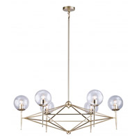 DU Series 6 Light 14 inch Gold Chandelier Ceiling Light