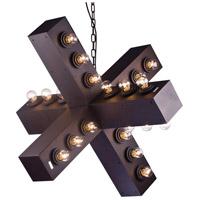 Bethel International DU81 Canada 36 Light 32 inch Black Chandelier Ceiling Light