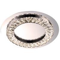 Bethel International FT04-3K Ft04 Series LED 15 inch Chrome Flush Mount Ceiling Light