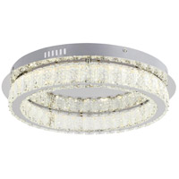 Bethel International FT39F18CH Canada LED 18 inch Chrome LED Flush Mount Ceiling Light
