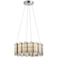 Bethel International FT48C24S Canada LED 24 inch Chrome Chandelier Ceiling Light