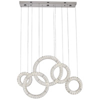 Bethel International FT64C43CH Canada LED 43 inch Chrome Chandelier Ceiling Light