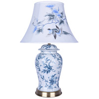 Bethel International FUM01T9B Canada 32 inch 100.00 watt Bule/White Table Lamp Portable Light
