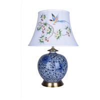 Bethel International FUM02T11B Canada 27 inch 100.00 watt Blue/White Table Lamp Portable Light
