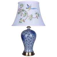 Bethel International FUM03T8B Canada 26 inch 100.00 watt Blue/White Table Lamp Portable Light