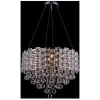 Bethel International GL177-22 Gl1 Series 10 Light 22 inch Chrome Chandelier Ceiling Light