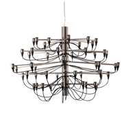 GL Series 35 inch Smoke Metal Chandelier Ceiling Light, Wire Arms