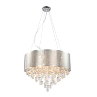 Bethel International GL64 Canada 5 Light 16 inch Chrome Chandelier Ceiling Light