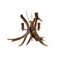 IL Series 17 inch Brown Wall Sconce Wall Light