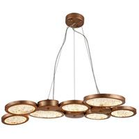 Bethel International Series LED 27 inch Antique Gold Pendant Ceiling Light