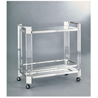 Bethel International JF02GK-PS JF02 Series Polished Nickel Bar Cart