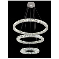 Bethel International Series LED 32 inch Chrome Pendant Ceiling Light