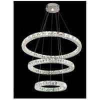 Bethel International Series LED 32 inch Chrome Pendant Ceiling Light