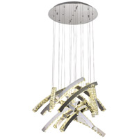 Bethel International Series LED 20 inch Chrome Pendant Ceiling Light