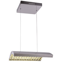 Bethel International Series LED 16 inch Chrome Pendant Ceiling Light