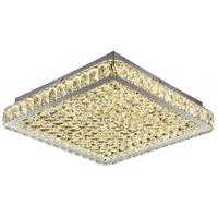 Bethel International Series LED 19 inch Chrome Flush Mount Ceiling Light