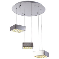 Bethel International Series LED 18 inch Chrome Pendant Ceiling Light