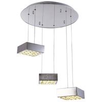 Bethel International Series LED 18 inch Chrome Pendant Ceiling Light