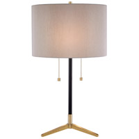 Bethel International JTL123HL-AB Jtl123 Series 27 inch 100 watt Antique Brass and Black Table Lamp Portable Light